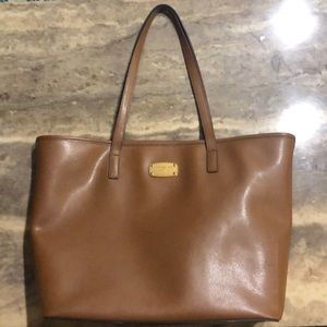 Authentic Michael Kors Laptop Tote - Brown Leather